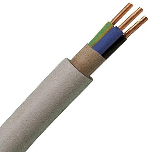 Mantelleitung Grau NYM-J 3x2,5 Installationskabel, Elektrokabel, 25 meter