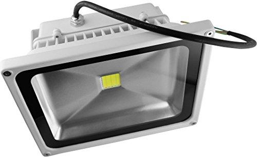 DIODOR Projecteur LED 20 W blanc chaud, IP65, boîtier, DIO-fl20 N W