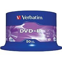 Verbatim 43550 4.7GB 16x DVD + R Matt Silber - 50 Pack Spindel