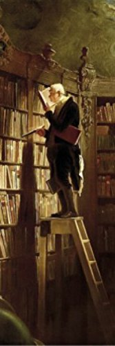 Preisvergleich Produktbild 1art1 73825 Carl Spitzweg - Der Bücherwurm,  1850,  1-Teilig Fototapete Poster-Tapete 250 x 79 cm