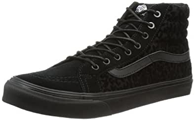 Vans U Sk8-Hi Slim, Baskets mode mixte adulte - Noir (Cheetah Black), 34.5 EU (035 / 3.5 US)