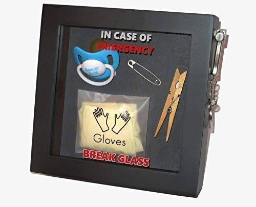 Neue Eltern Im Notfall können Sie die 3D-Geschenkbox aus Glas zerbrechen. Lustiger Rahmen für Schokolade / Süßes / Trinken / Geld / Gutschein / Schmuck. Neue Mama / Papa, Mama / Papa zu sein. - Schokoladen-rahmen