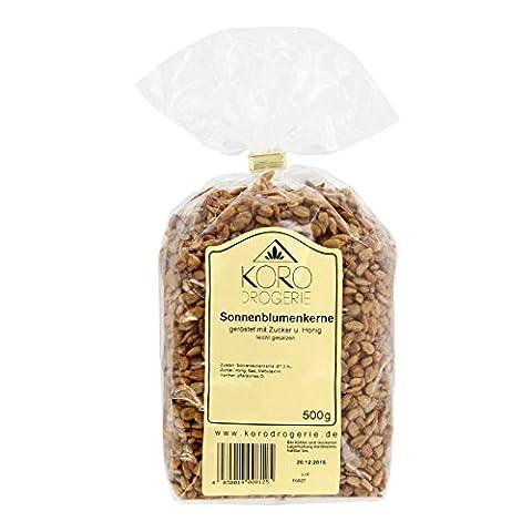 Süße Sonnenblumenkerne ● Snack Mit Honig ● Leckerer Snack ● 500 g Packung ● KoRo Drogerie