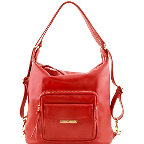 Tuscany Leather TL Bag - Sac en cuir convertible en sac à dos - TL141535 (Rouge) Rouge