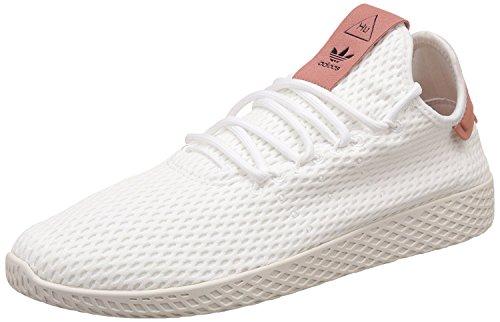 adidas Unisex-Erwachsene PW Tennis hu Fitnessschuhe, Weiß (Ftwbla/Ftwbla/Rosnat), 37 1/3 EU (Adidas Schuhe Tennis Herren)