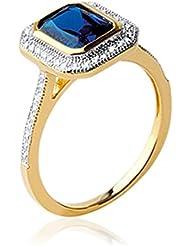 ISADY - Isalline Gold - Bague femme - Plaqué Or 750/000 (18 carats) - Oxyde de Zirconium