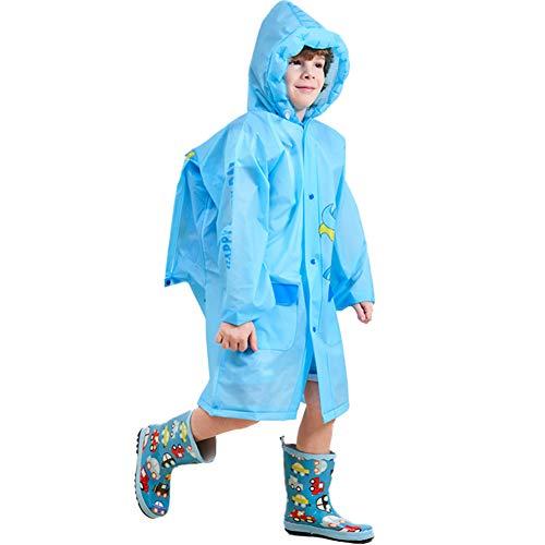 Comcrib Regenmäntel Mädchen Jungen Baby Kinder Wasserdichter Regenponcho mit Kapuze Eva Regenjacke Outdoor Regenbekleidung mit Taschen