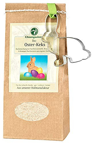 Chiemgaukorn Bio Chiemgauer Oster-Keks, Backmischung mit Keks-Ausstecher -