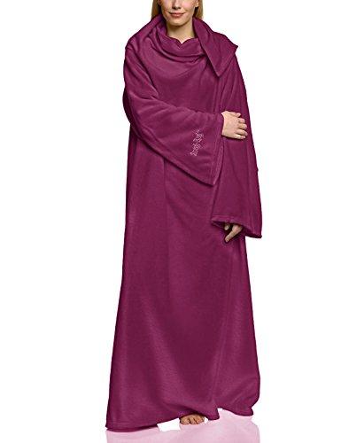 Snug Rug Lite 260g pro m² Fleecedecke mit Ärmeln, kuschelige Wohndecke mit den Maßen: 152 cm x 213 cm, Farbe: Dunkel Lila Schwere Tagesdecke
