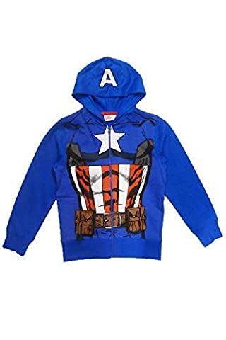 Captain America Dress Up Hoody - Age 4-5