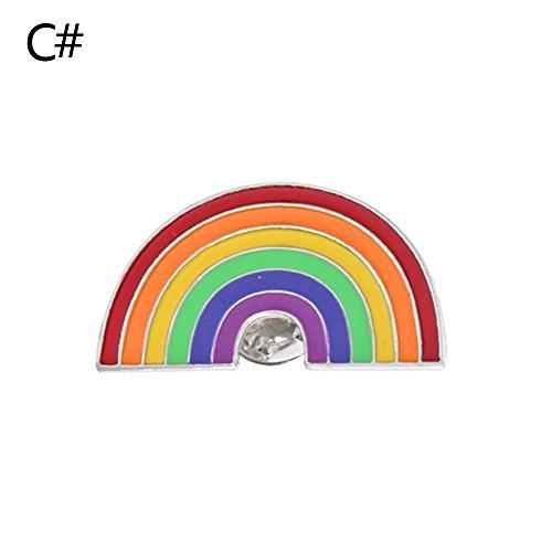 n Pin Vogel Regenbogen Ananas Wassermelone Pins Set für Kleidung Dekor Nette Kinder Brosche (3) ()