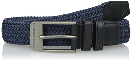 Under Armour 2018 Mens 2.0 Braided Stretch-fit Woven Golf Webbing Belt Academy 36 - Woven Golf
