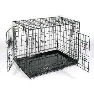"""XXL Extra-Large 48"""" Métal Noir Dressage De Chien Cage Porte"""