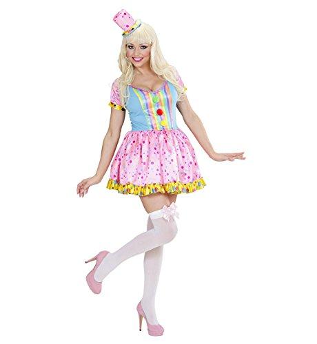 Widmann 01752 - Erwachsenenkostüm Clown Girl, Kleid und Minihut (Deutsch Kostüme Für Frauen)
