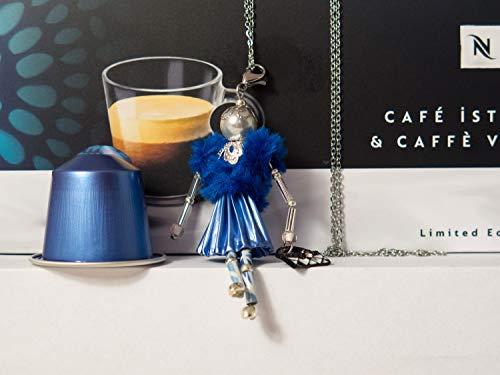 französische Puppe Halskette blau/Blau mit Handtasche (Französisch Handtasche Blaue)