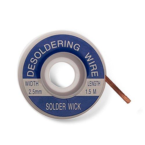 Entlötlitze 2,5mm - Hohe Saugfähigkeit - Spule Sauglitze Kupfer 2,5 mm