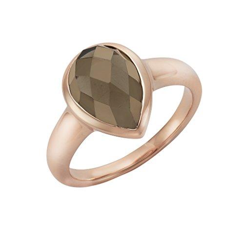 Jamelli Damen Ring 925/- Sterling Silber Glänzend Rauchquarz rot 273271068J