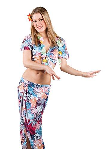 BOLAND-83835--Adultos-Disfraz-Hawaiian-Beauty-color-azul