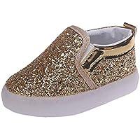 Zapatillas para Bebés Calzado Niños Lentejuela de imitación Luminoso LED Suave Terciopelo Botas Zapatilla de Deporte Zapatos Sneakers con Luces