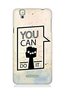 Amez You can Do It! Back Cover For YU Yureka