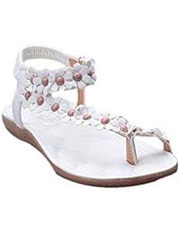 Venta Caliente! Sandalis Mujer,❤️ Ba Zha HEI Mujer Thong Sandals de Sandalias Bohemia Flores con Cuerda enrollada de Sandalis Sexy Mujer de Sandalias con Punta Abierta Casual Sandalias