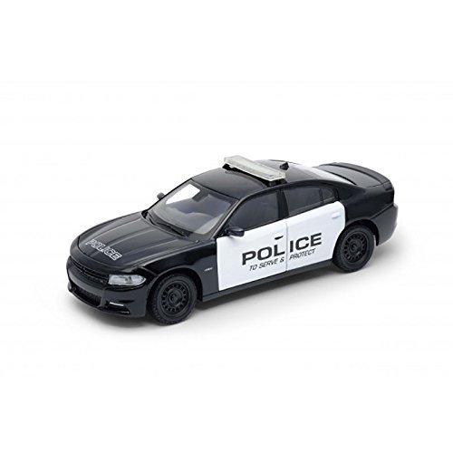 """Welly 24079 DODGE CHARGER Pursuit """"Policía"""" Escala 1:24 Coche a Escala"""