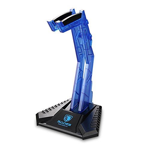 Gaming Headphone Cradle,Sades S-xlyz Acrylic Headset Bracket Stand Holder,Suitable for AKG/Sony/Shure/Sennheiser/Monster Beats/Ultimate Ears/Boss/Logitech/Professional/Gaming Headset,Blue  available at amazon for Rs.3347