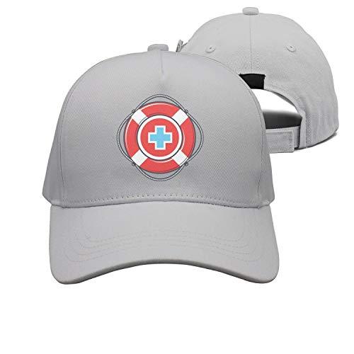 672e372efec1f jiilwkie Cap Life Guard and Lifeguard Logo Plain Hat