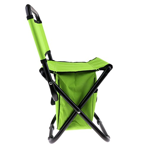 perfk Angelstuhl Faltstuhl Campingstuhl Klappstuhl mit Anti-Rutsch-Gummi Füße - Grün