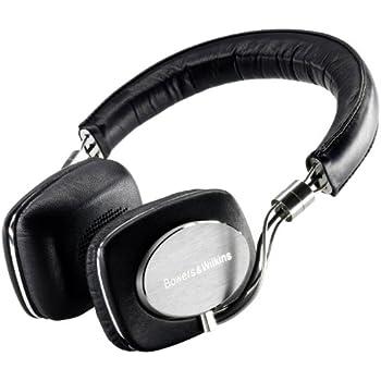 B&W P5 HiFi-Kopfhörer (MFi-Anschlusskabel für iPod und iPhone) Metall/Echtleder schwarz
