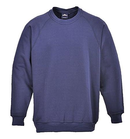 Portwest B300NARL Large Poly Cotton Sweatshirt - Navy