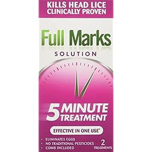 Full Marks Lösung für Kopfläuse, mit Kamm