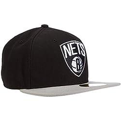 New Era Nba Basic Brooklyn Nets - Gorra para hombre, color negro, talla 6 7/8