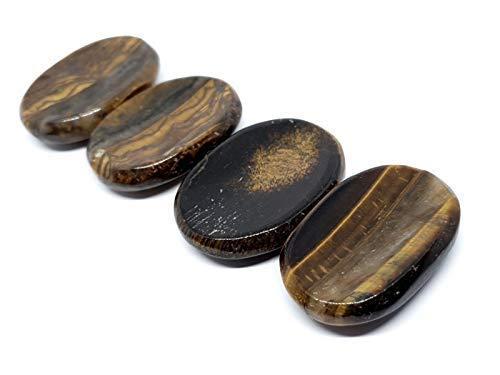 Eclectic Shop UK 1 X Ojo de Tigre AAA Grado Gema Pulgar Piedra Preocupaciones Piedra Gema Cristal ( Uno Se Envía Fotos Mostrar Variación)