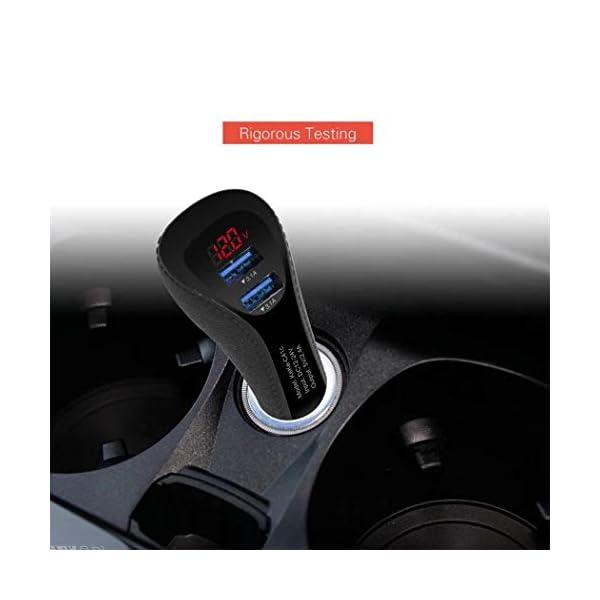 pioleUK Cargador de Coche USB Dual portátil de Alta Velocidad Duradero para teléfono móvil Bases de Carga