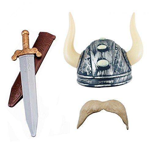 deguisement-du-petit-heros-moustachu-avec-un-casque-de-gaulois-une-epee-et-son-etui-une-fausse-moust