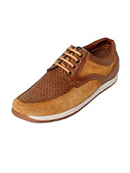 Bacca Bucci Men Tan Synthetic Leather Casual Shoes 07 UK