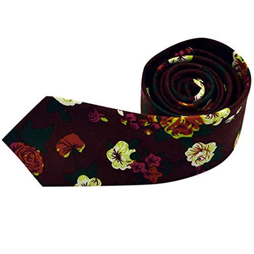 Xmiral Unisex Krawatte Blumendruck Hochzeit lässig Bräutigam weibliche Krawatte(H)