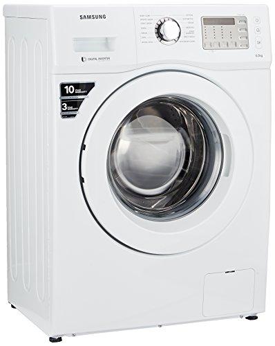 Samsung 6 kg Fully-Automatic Front Loading Washing Machine (WF600B0BHWQ, White)