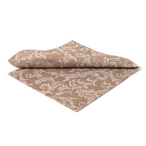 the napkins TNF40.20.CA 20 Plus 1 Floral Servietten, stoffähnlich, 40 x 40 cm, Cocoa