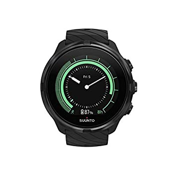 Suunto 9 Unisex Multisport GPS Watch, 25+Hours Battery Life, Waterproof to 100 m, Wrist Heart Rate Monitor, Colour Display, Mineral Glass