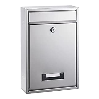 Alco 8602 Briefkasten, silber lackiert, ca. 32 x 22 x 9 cm