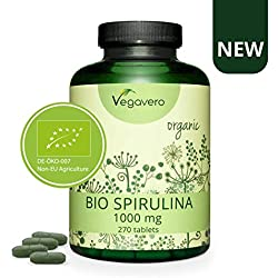 Spirulina Orgánica Vegavero® | 3000 mg | Sin Aditivos | 270 Comprimidos | Energía + Detox + Antioxidante + Sistema Inmunológico | Rica en Clorofila | Apto Para Veganos | Algas Marinas