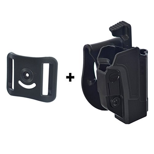 ORPAZ Defense Taktisch verstellbar drehbar drehung Paddle Pistole Holster Active Retention Mit Thumb Release Sicherheit + Gürteladapter für Smith & Wesson S&W M&P 9mm, .40cal, .22cal & .45cal, M2.0 in 9mm, .40 & .45, SD9, SD40, SD9VE (Holster Smith And Ve Wesson-sd40)