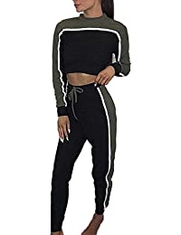 676817340f ZIYOU Hausanzug Frauen, Damen Sportanzug Trainingsanzug Pullover  Jogginganzug Freizeitanzug Sweatshirts + Trainingshose
