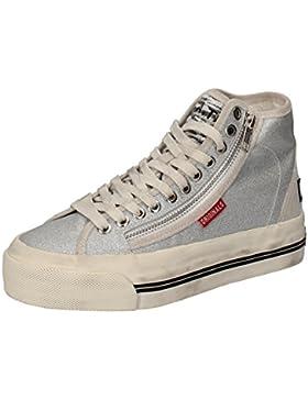 D.A.T.E. (DATE) Sneakers Donna Argento Glitter Camoscio