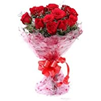 Floral Fantasy of Fresh Flower Bouquet (Bunch of 10 Red Roses)