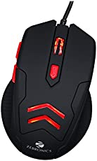 Zebronics Feather Optical USB Gaming Mouse with Pad (Black)