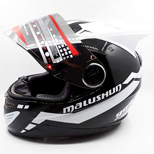 (Einzelne/Double Angle Moto Motorrad Helm Unisex Erwachsene Off-Road Flip Up Full Face Helme Motocross Caps für alle Jahreszeiten 15 Farben XXL)