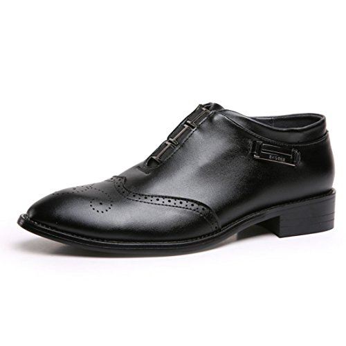 Men's Vintage Retro Handmade Leather Formal Shoes Black